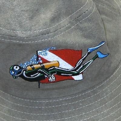 Scuba Diving Dive Sun Hat Floppy Swimming I-Dive Safari AP56BLU LG//XL