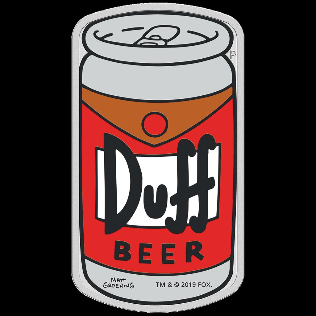 Tuvalu - 1 Dollar 2019 - Duff Beer™ - Die Simpsons™ - 1 Oz Silber PP 3