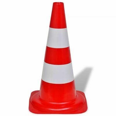 vidaXL 10x Reflective Traffic Cones Red and White 50cm Parking Safety Road 3