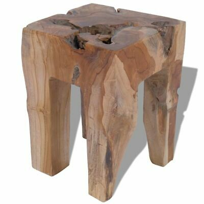 Peachy Vidaxl Solid Teak Wood Stool Chair Side Accent Table Plant Caraccident5 Cool Chair Designs And Ideas Caraccident5Info
