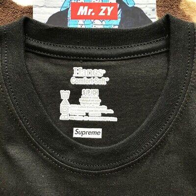 Supreme SS19 Hanes Tagless Tee 1 T-Shirt Only Box Logo BANDANA CDG Tiger King
