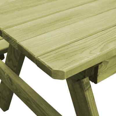 vidaXL Table Pique-nique Banc Bois de Pin Imprégné FSC Jardin Patio Terrasse 6