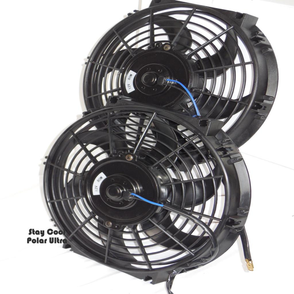 "Chevy El Camino Custom Aluminum Radiator Fan Shroud /& 2-12/"" Fans 17 x 26 1//4 162"