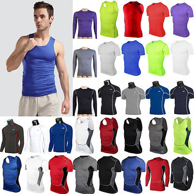 Activewear Tops Activewear Mens Compression Under Shirt Base Layer Tight Tops Gym Sports Athletic T-Shirt