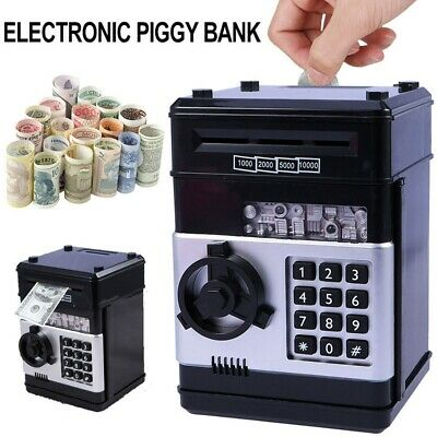 Electronic Piggy Bank ATM Password Money Coin Automatic Safe Saving Box For Kids 2