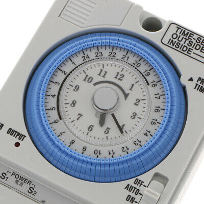 24H Chronometrie Timer Mechanischer Schalter Analoge Zeitschaltuhr 100-240V 11