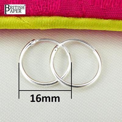 Girls 925 Sterling Silver 8mm -20mm Small Tiny Hinged Hoop Sleeper Earrings Pair 6