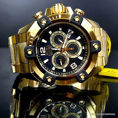 Invicta Reserve Grand Arsenal 63mm Swiss Movt Black MOP Gold Plated Watch New 3