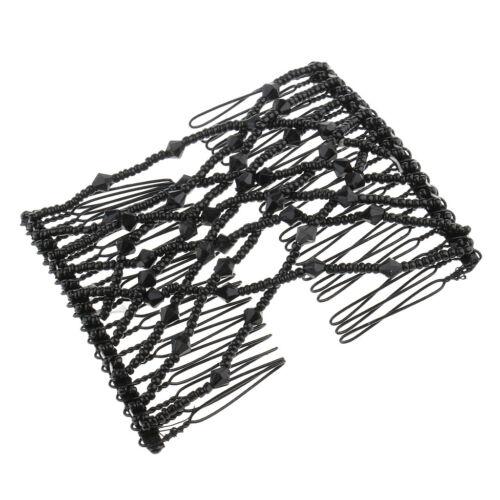 2x Doppel Haar Kamm Stretchy Hair Styling Kämme Clip Haarschmuck für Dekor
