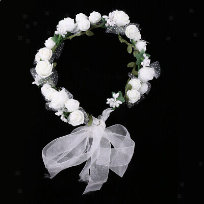 34a207de20b6ed ... Blumenkranz Kranz Blumen Kinder Blumenmädchen creme weiß Hochzeit  Vintage - 71 2