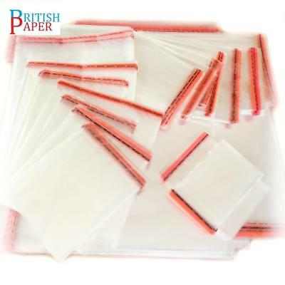 New Clear Cellophane Bags Small Large Self Seal Cello Gift Sweet Party For Cards 3