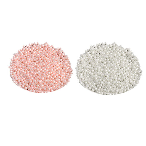 1000pcs 6mm DIY ABS Round Pearl Spacer Loose Beads Jewelry Making White&Pink 12