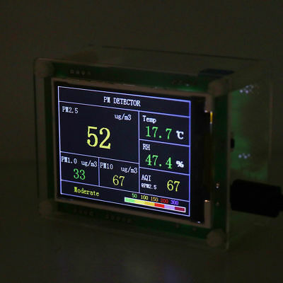 Household PM2.5 Detector Module Air Quality Dust Sensor TFT LCD Display Monitor 10