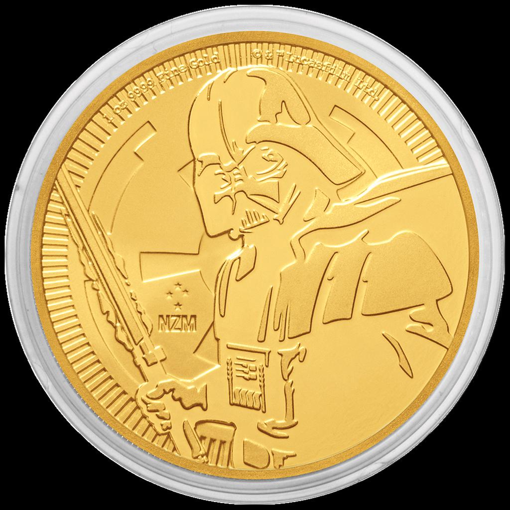 Niue - 250 Dollar 2019 - Star Wars™ - Darth Vader™ - 1 Oz Gold ST - Anlagemünze 4