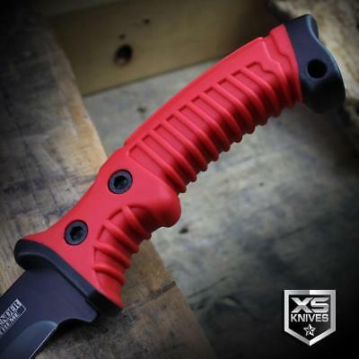 "15.5"" RED Survival Jungle Hunting Machete SAWBACK Military Fixed Blade SHEATH 3"