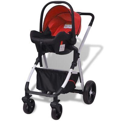 vidaXL Cochecito Bebé 3-en-1 Marco de Aluminio Ligero de Diferentes Colores