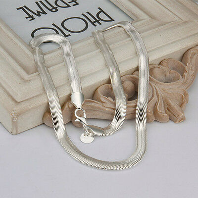925 sterling solid silver 6MM snake chain Men Women necklace 16 - 30 inch LSN193 6