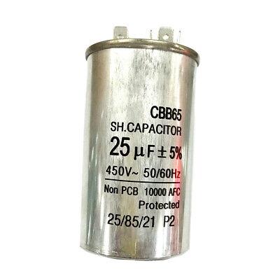450V25UF Motor Run Capacitor Home Air Conditioner Start Run Capacitor CBB65 3