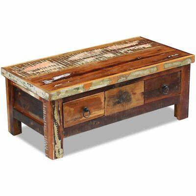 vidaXL Massivholz Couchtisch Beistelltisch Wohnzimmer Sofa Kaffee Tisch Antik 5