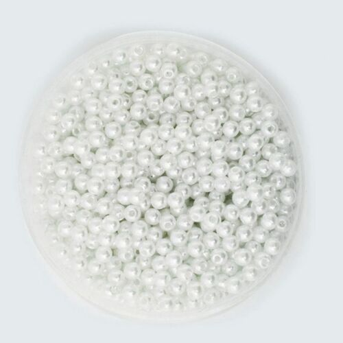 1000pcs 6mm DIY ABS Round Pearl Spacer Loose Beads Jewelry Making White&Pink 6