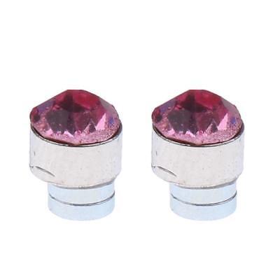2pc Magnetic Crystal Round Earrings Non Piercing Clip On Men Kids Ear Magnet 7