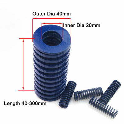 40mm OD Blue Light Load Compression Stamping Mould Die Spring 20mm ID All Sizes 2