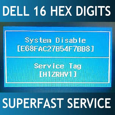 DELL 16 DIGITS HEX Bios password remove Vostro / Alienware / Inspiron 24/7  Fast