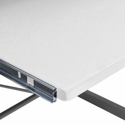 vidaXL Mesa de Ordenador Bandeja Teclado Extraíble Blanco Escritorio Oficina 5