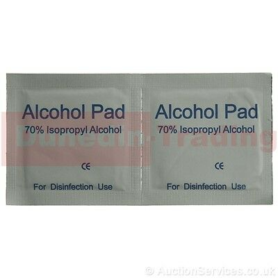 100 x IPA Wipes 70% Isopropyl Alcohol Swabs NHS Quality 2