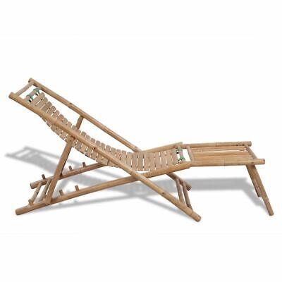 Strandstoel Met Voetensteun.Bamboe Ligstoel Met Voetensteun Ligstoel Strandstoel Lig Strand Zonnebed