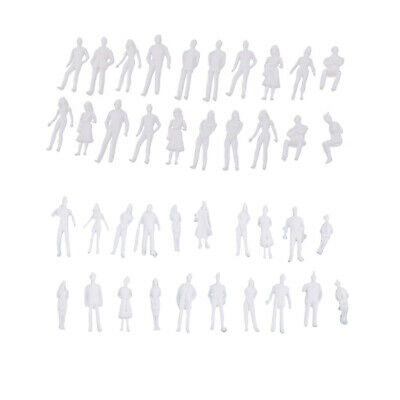 MagiDeal 40x 1:50 Modell Miniatur Weißfiguren Architekturmodell