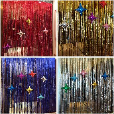 2 Of 6 Curtain Party Decoration Window Tinsel Foil Fringe Door Wedding Birthday Shimmer