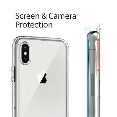 100% Verre trempé Film Protection écran+ Coque crystal iPhone X XS Max XR 8 7 6 7