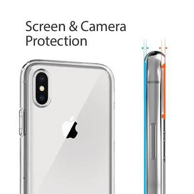Film Protection Verre trempé écran+ Coque Housse iPhone X XS Max XR 8 7 6 S Plus 7