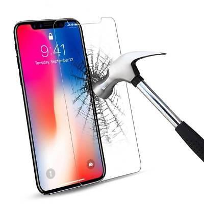 100% Verre trempé Film Protection écran+ Coque crystal iPhone X XS Max XR 8 7 6 2