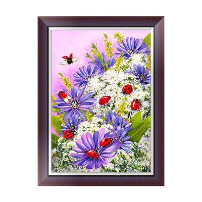 DIY 5D Flower Ladybug Diamond Embroidery Rhinestone Painting Cross Stitch Decor 2
