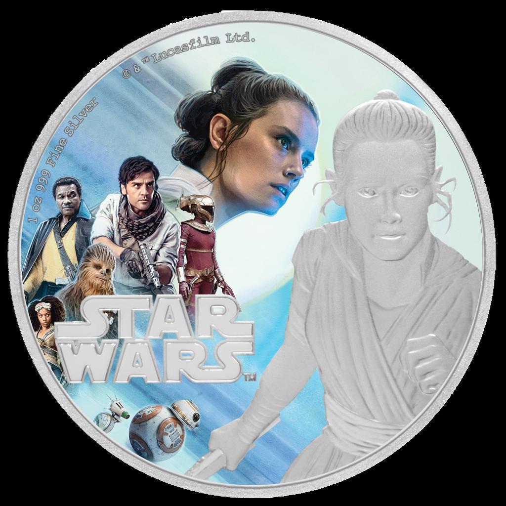 Niue 2 Dollar 2019 - Star Wars™ Rey™ Der Aufstieg Skywalkers™ - 1 Oz Silber PP 2