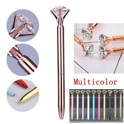 1/2pcs Crystal Ballpoint Pen Write BLING DIAMOND ON THE Scepter Writing Various 7