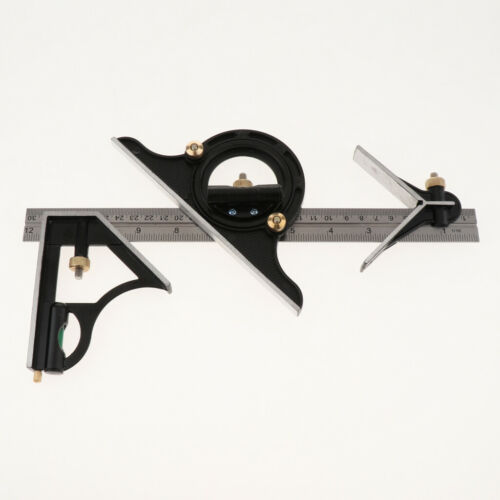 Protractor Right Angle Finder Spirit Level Set Measuring Tools 9