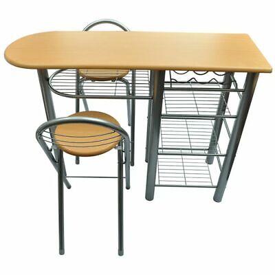 Sedie Da Cucina In Acciaio.Tavolo Da Cucina Con Sedie Set In Legno E Acciaio Eur 93 99