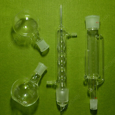 250ml Soxhlet Extractor with condenser,Pumping tube and two 24/40 flat flasks 5