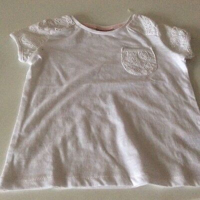 Girls white skirt and top set - age 3-4 3
