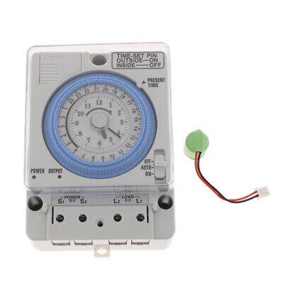 24H Chronometrie Timer Mechanischer Schalter Analoge Zeitschaltuhr 100-240V 9