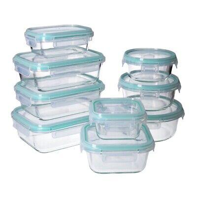 Set de Boites alimentaires en verre, Couvercle hermétique à 4-clic -GEORGES 2
