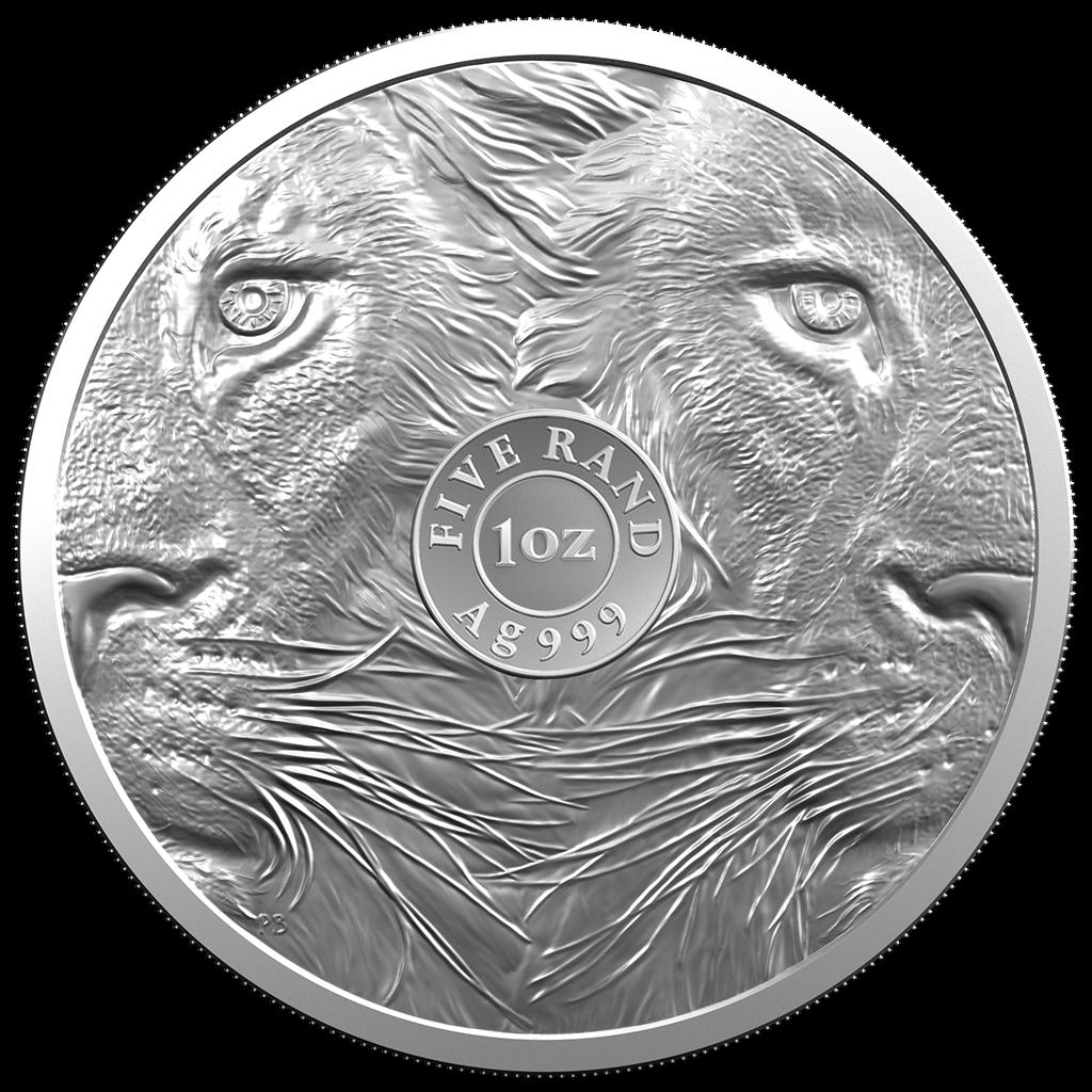 Südafrika - 5 Rand 2019 - Big Five Serie (2.) - Löwe - 1 Oz Silber ST 2