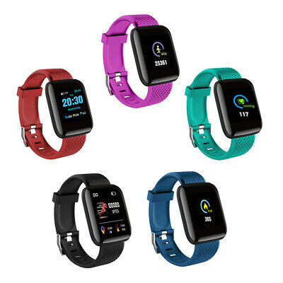 116Plus Smart Watch Bluetooth Heart Rate Blood Pressure Monitor Fitness Tracker 11