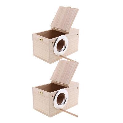 2X Zucht Holz Nistkasten Nesting Roost Vogel Kanarischen Finch Budgie