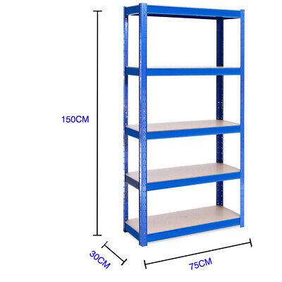 Heavy Duty Garage Racking Storage Shelving Units Boltless Thicken Shelves 5 Tier 2