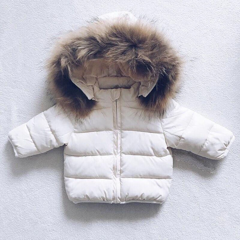 New Kids Baby Toddler Boy Girl Winter Warm Coat Faux Fur Hooded Jacket Outerwear 4