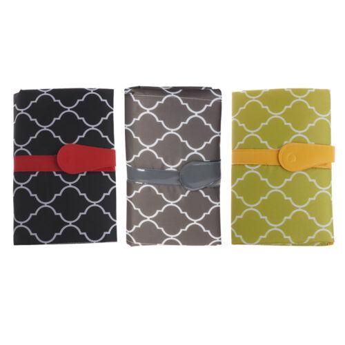 Baby Nappy Diaper Bag Changing Change Clutch Mat Foldable Pad Handbag Wallet